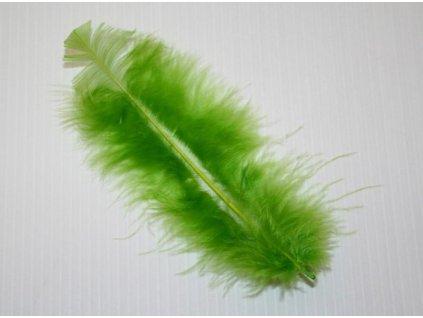 10 x peří Marabu středně zelené, velké