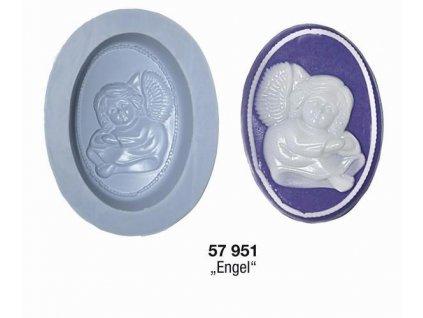 silikonová forma na mýdlo anděl