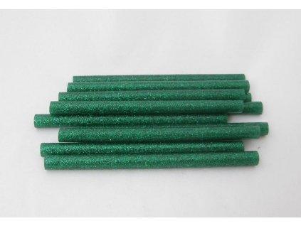 zelené s glitry tavné tyčinky 7,5 mmx10 cm