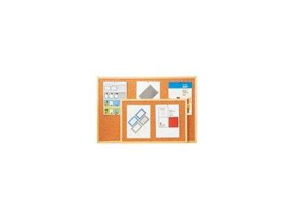 nástěnka, korková tabule 60x90 cm dřevěný rám