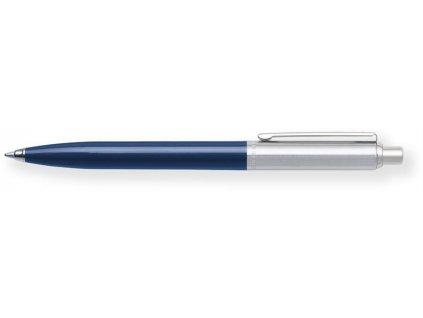 Sheaffer, Sentinel kuličkové pero, Coloured Resin Chrome CT (chrom/plast - tm. modrá)