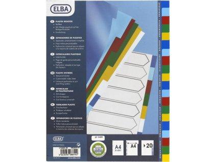 ELBA, rozdružovač barevný, 20 listů