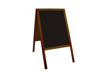 Memoboards, a-stojan oboustranný, 120 x 60 cm, dřevěný rám, hnědý