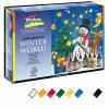 Nerchau Window Art Winter World, slupovací barva na sklo, sada
