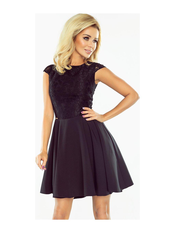 Dámské černé elegantní šaty 157-2 / P27
