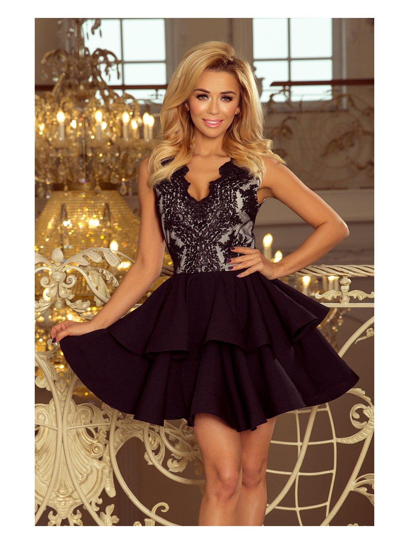 Černé exkluzivní šaty CHARLOTTE 200-3 / P11