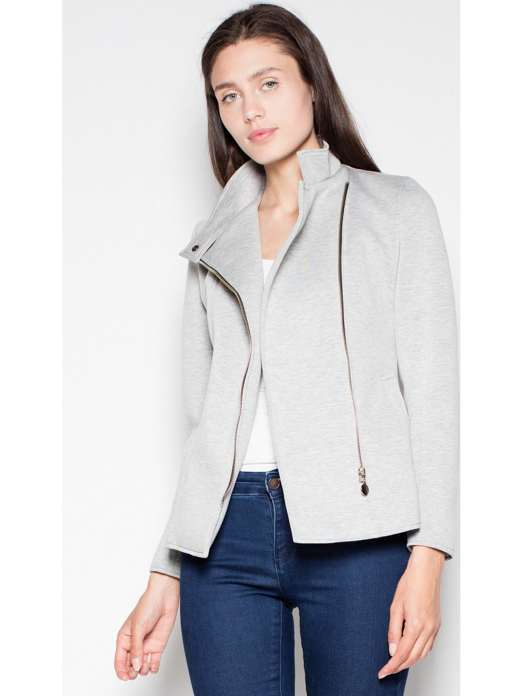 Krátký kabátek VT034 Light grey / L12
