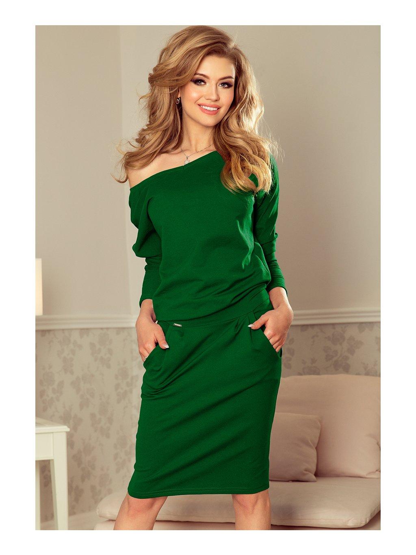 Zelené sportovní šaty na ramena  189-3 / N36