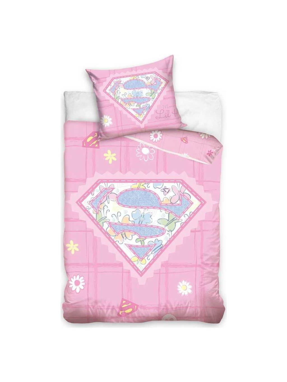 SUPER BABY RŮŽOVÉ POVLEČENÍ DO POSTÝLKY 100 X 135 CM