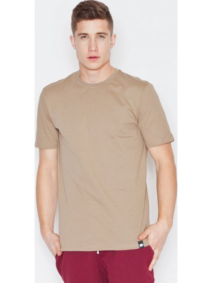 Béžové bavlněné tričko V001 Beige / N23