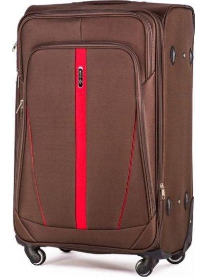SOLIER LUGGAGE Hnědý cestovní kufr (STL1706 COFFEE) - SKL