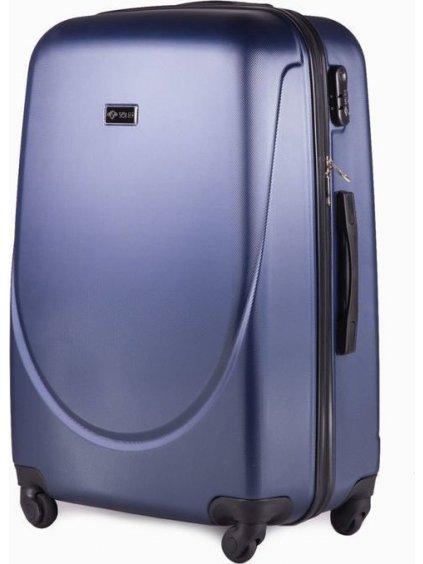 SOLIER LUGGAGE Tmavě modrý cestovní kufr (STL310 DARK BLUE) - SKL