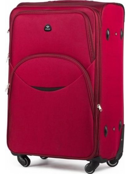 SOLIER LUGGAGE Červený cestovní kufr (STL1708 RED) - SKL