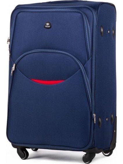 SOLIER LUGGAGE Modrý cestovní kufr (STL1708 BLUE) - SKL
