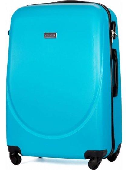 SOLIER LUGGAGE Světle modrý cestovní kufr (STL310 CYAN) - SKL