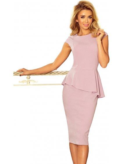 Elegantní růžové šaty 192-2 / P27