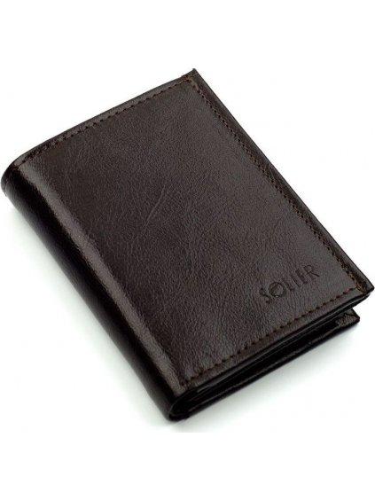 Pánská hnědá peněženka (SW01 BROWN) / J12