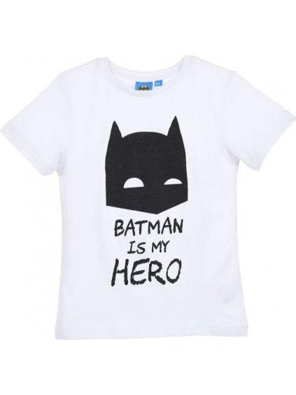 BATMAN CHLAPECKÉ BÍLÉ TRIČKO BATMAN IS MY HERO