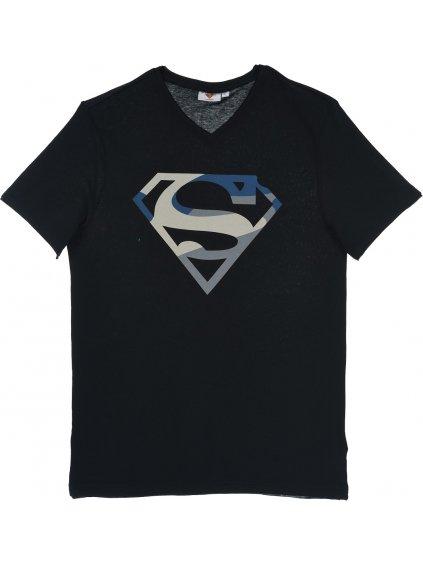 SUPERMAN - TMAVĚ MODRÉ CHLAPECKÉ TRIČKO