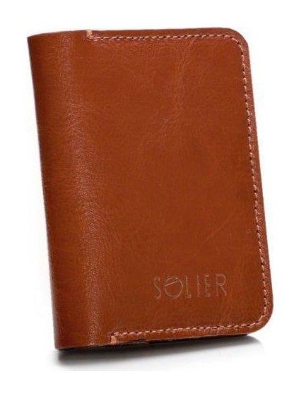 SLIM LEATHER MEN'S WALLET SOLIER SW11 SLIM BROWN
