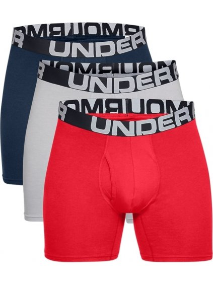 UNDER ARMOUR CHARGED COTTON 6IN 3 PACK 1363617-600