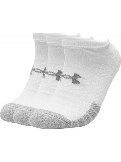 UNDER ARMOUR HEATGEAR NO SHOW SOCKS 3-PACK 1346755-100