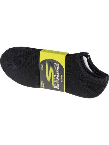 SKECHERS 3PK NO SHOW STRETCH SOCKS S101715-BLK