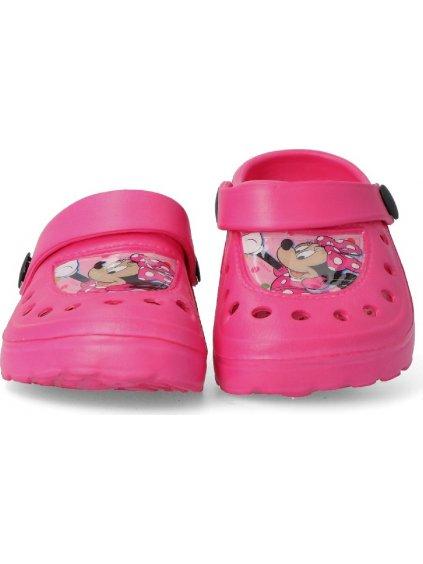 Minnie Mouse růžové dívčí nazouváky / J13
