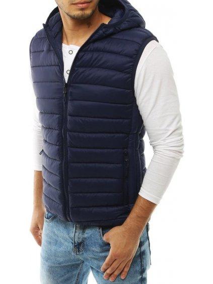 Tmavě modrá pánská prošívaná vesta * TX3296 / J20