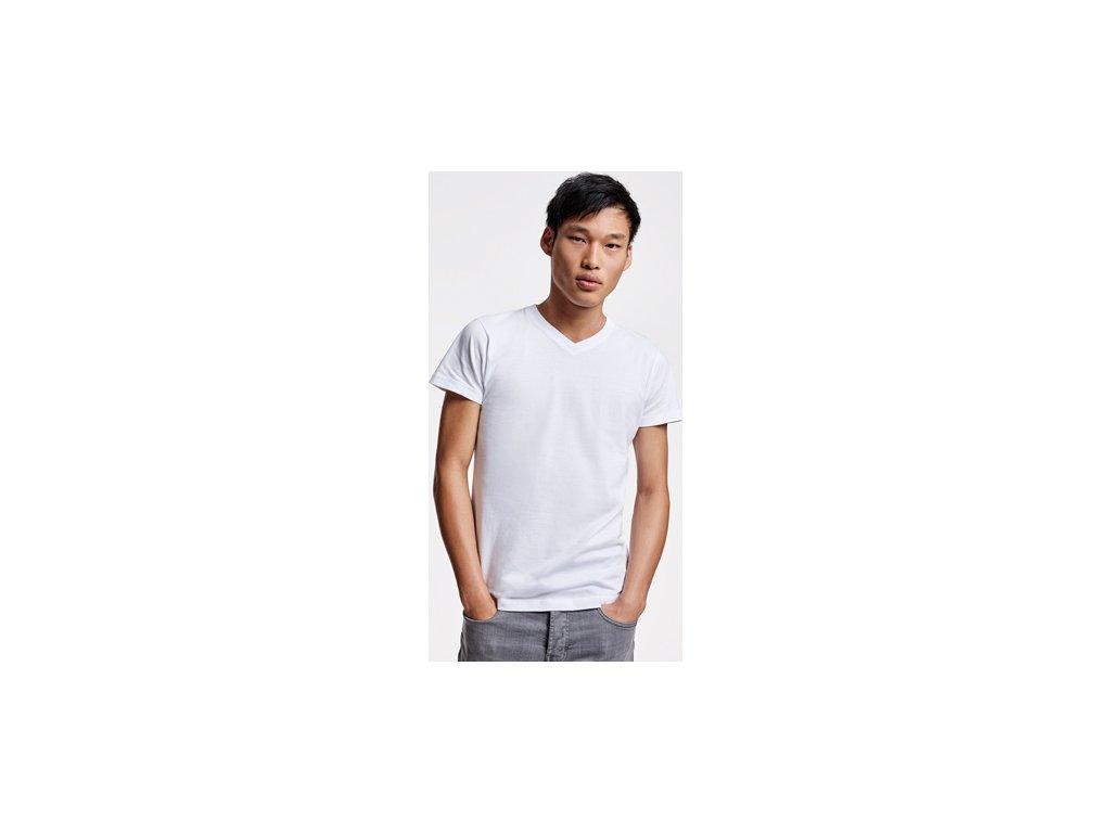 Pánske klasické tričko výstrih do V, SAMOYEDO