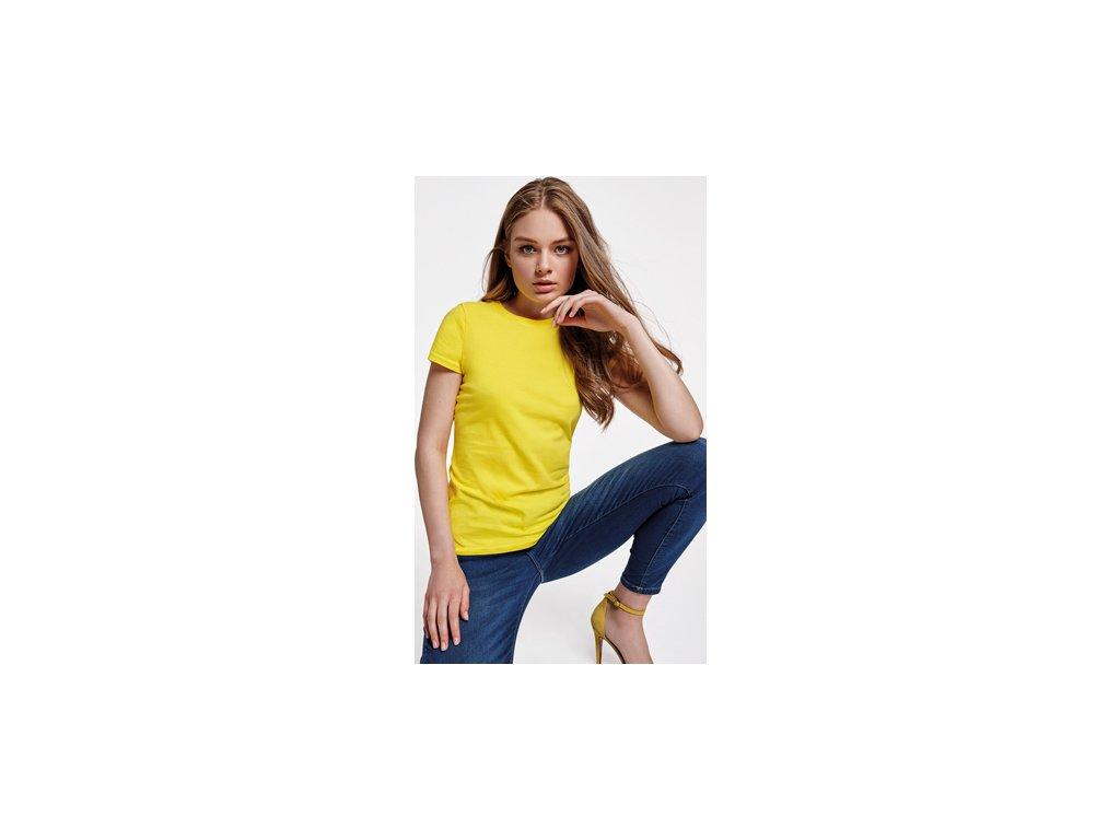 Dámske klasické jemne predĺžené tričko CAPRI, rôzne farby