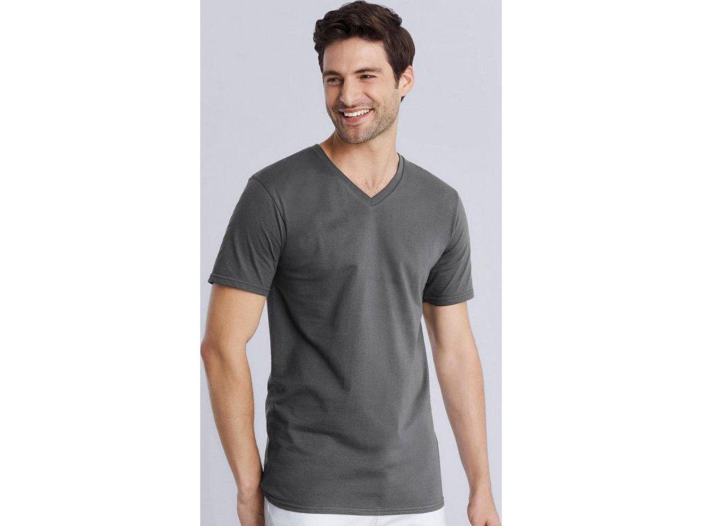 Pánske tričko Premium s V-výstrihom
