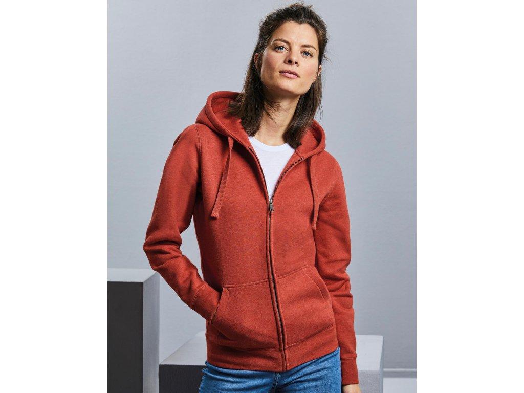Dámska mikina Authentic Melange Zipped Hood Sweat