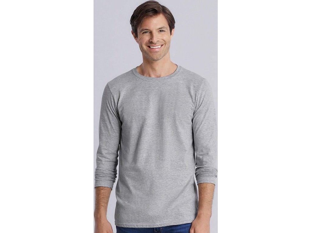 Pánske tričko Softstyle® s dlhými rukávmi