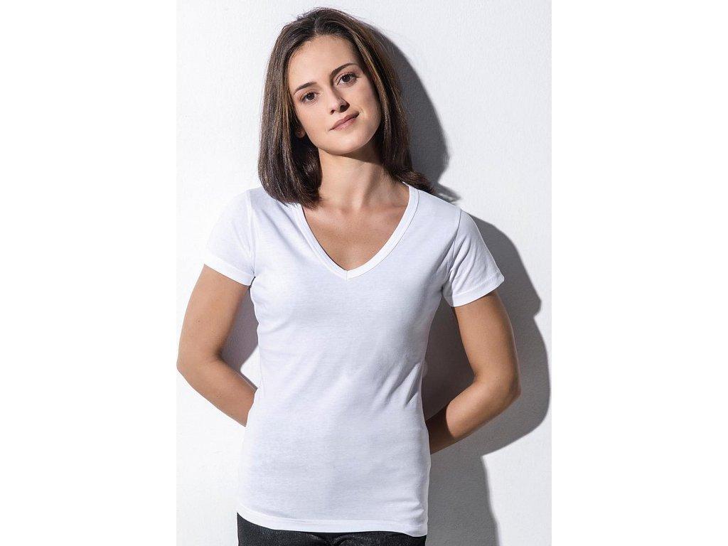Penny Dámske organické tričko s V-výstrihom