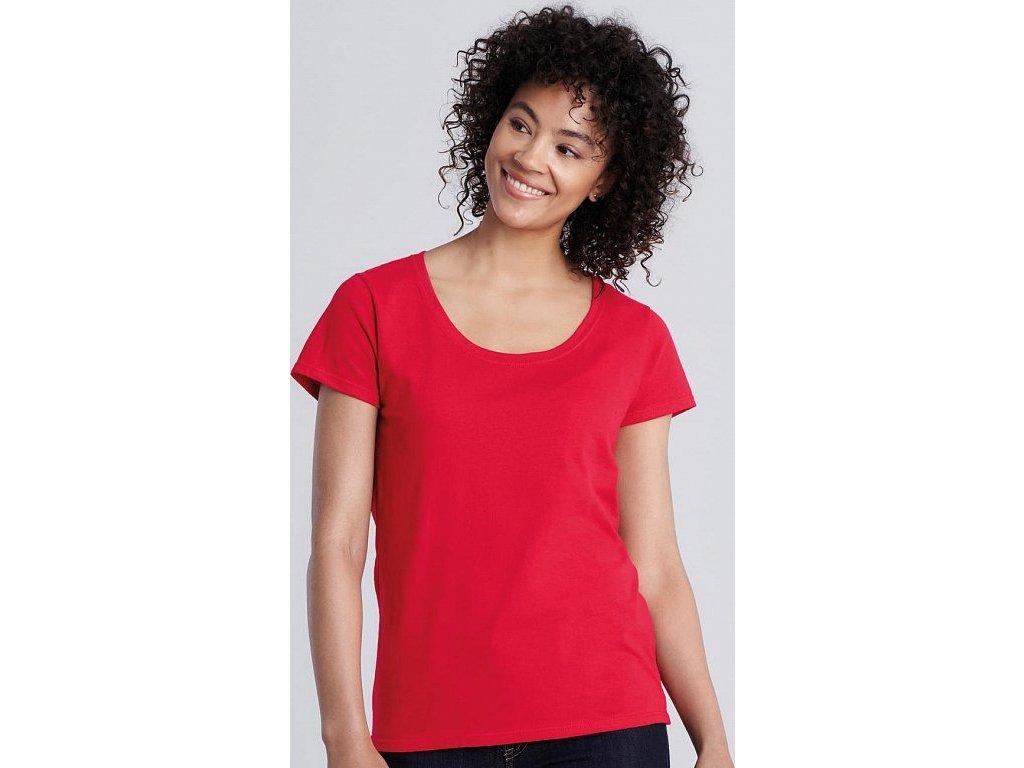 Dámske tričko Softstyle® s hlbokým výstrihom