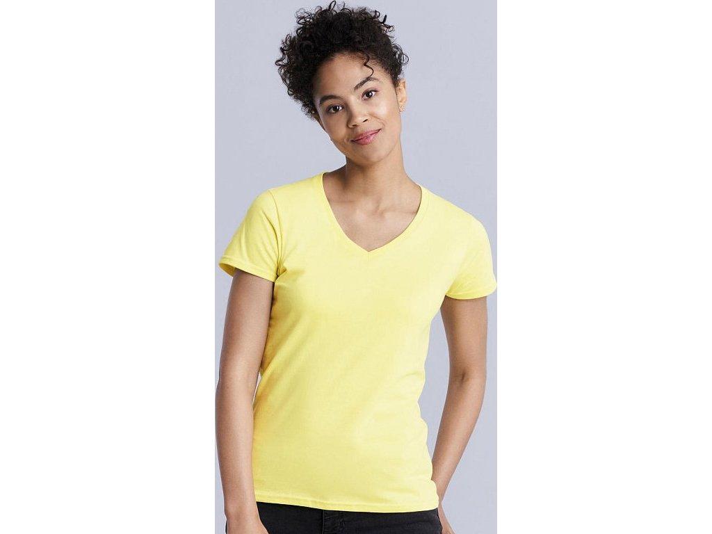 Dámske tričko Premium s V-výstrihom