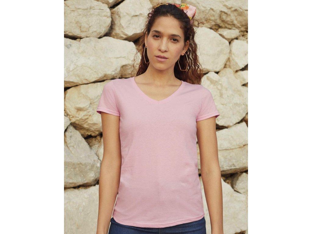 Dámske tričko V-neck
