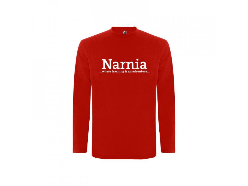 Detské tričko dlhý rukáv Narnia nápis vpredu