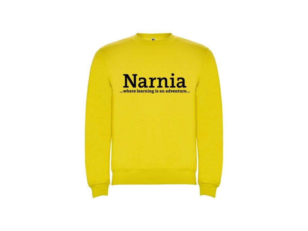 Detská mikina Clasica Narnia Narnia nápis vpredu
