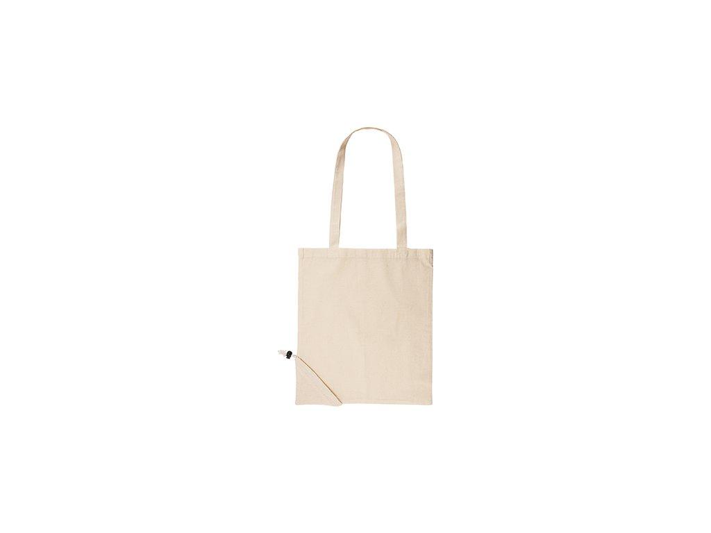Nákupná taška zo 100 % bavlny PLEGABLE DUNE