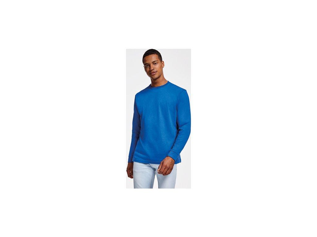 Pánske tričko dlhý rukáv s patentom POINTER