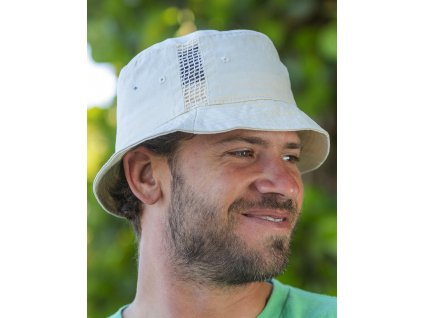 Športový klobúk s vložkami zo sieťoviny