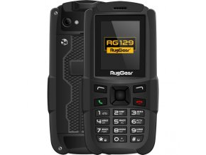 Odolný telefon RugGear RG129 (Odolnost IP67)  + Dárek: dobíjecí SIM karta T-Mobile s kreditem 10 Kč