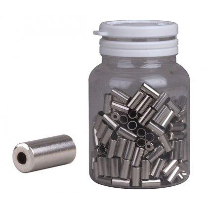 Koncovka bowdenu PRO-T 5mm stříbrná CNC (láhev 250ks)