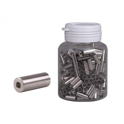 Koncovka bowdenu PRO-T 4mm stříbrná CNC (láhev 250ks)
