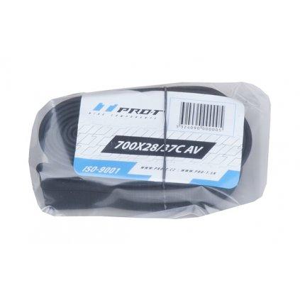 Duše PRO-T 700x28-37C (28/38-622/630) AV v PE sáčku s kartou