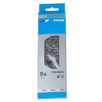 Řetěz SHIMANO  HG-93 116 čl. 27sp. balený
