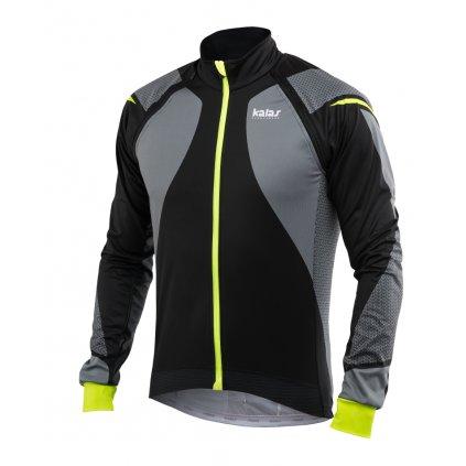 Cyklistická bunda Kalas W&W MISSION Light Titan X8 fluo/černá
