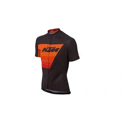 dres s kr. rukávem KTM Factory Line černo-oranžový